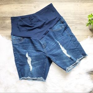 Angel Kiss | Maternity Jean Shorts XL